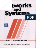 Networks and Systems by D. Roy Choudhury
