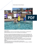 Students Plunge for Special Olympics