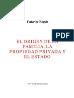 Engels Federico - El Origen de La Familia La Propiedad y El Estado