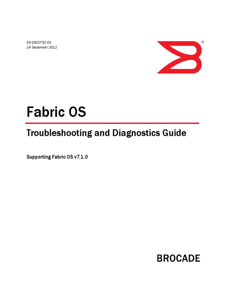 Brocade- Trouble Shooting and Diagnostic Guide | Command Line