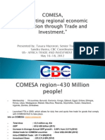 Comesa Presentation- Opportunities in Comesa Region