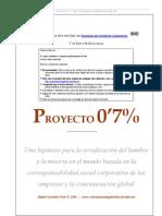 Proyecto 0,7. Erradicación de la pobreza en el tercer mundo y redistribución de las riquezas