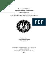 Proposal Praktik Industri Zidni