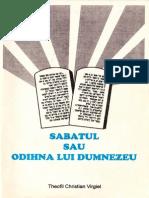 Sabatul Sau Odihna Lui Dumnezeu - Theofil C. Virgiel