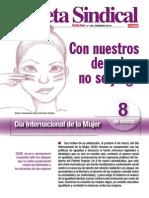 Gaceta Sindical n 192 8 de Marzo. Dia Internacional de Las Mujeres