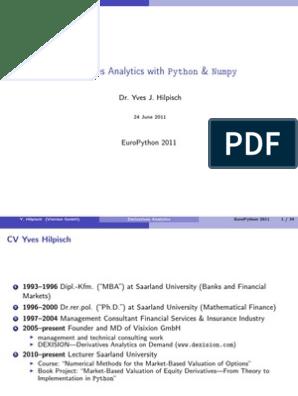 derivatives-analytics-with-python-numpy pdf | Option