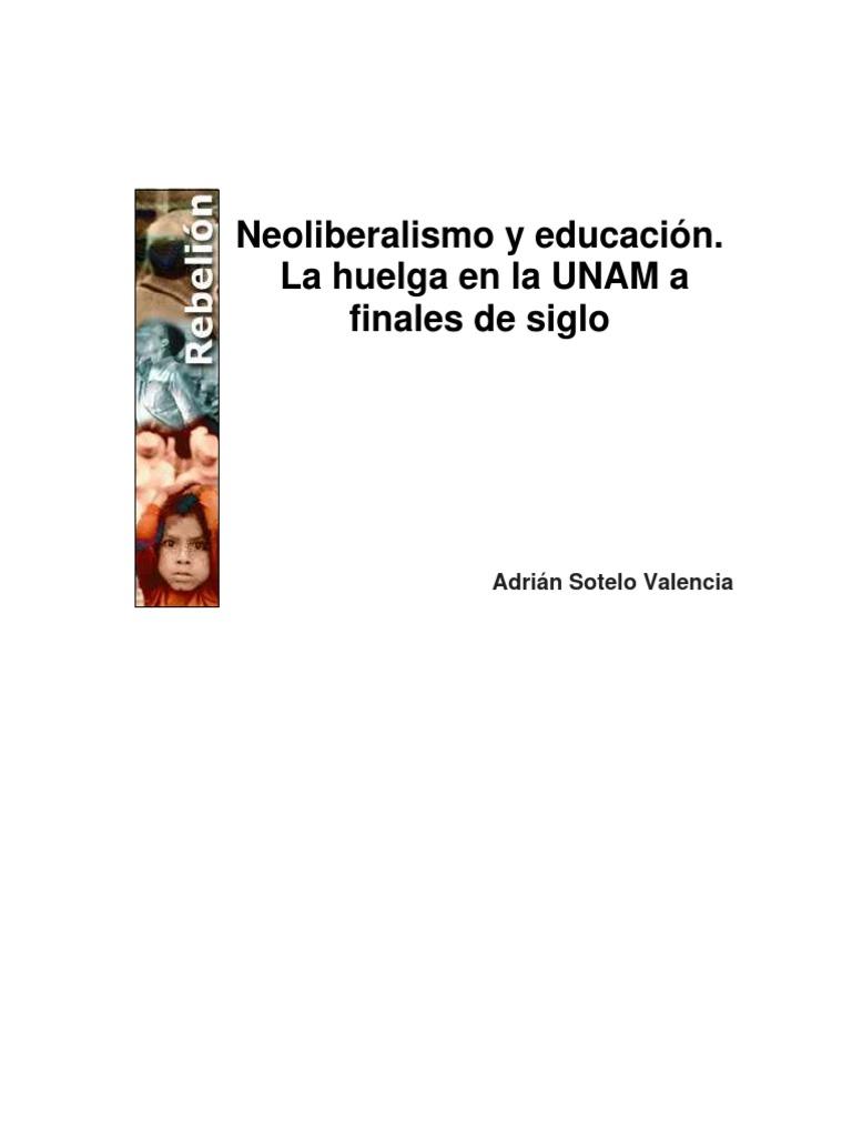 Sotelo Valencia - Neoliberalismo Y Educacion