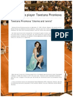 Sexy Tennis Player Tsvetana Pironkova