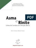 Livro - Asma e Rinite - Linhas de Conduta Em Atencao Basica - Ministerio Da Saude