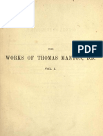 The Complete Works of Thomas Manton, D.D. Vol 1