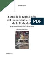 Sutra de la Exposición del Inconcebible Estado de la Budeidad