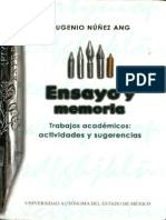 Ensayo y memoria, Eugenio Núñez