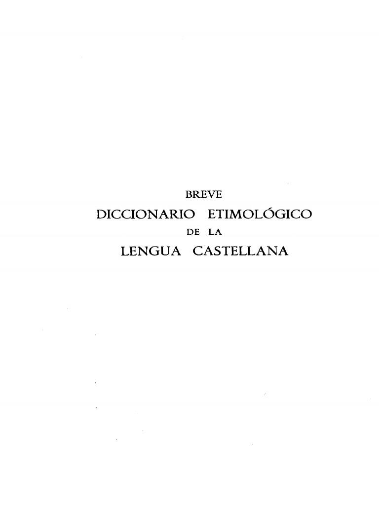 Corominas - Breve diccionario etimológico de castellano 011704b1c44