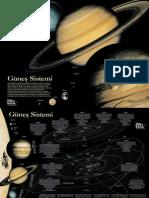 Güneş sistemi2 -Sun System (poster-bilim teknik)