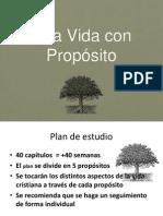 Presentacion Una Vida Con Proposito p0