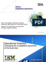 Operational Analytics Changing the Competitive Dynamics of the Business Prz v2
