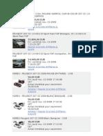 Peugeot 207cc Meilleur Prix