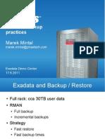 Presentation - Exadata Backup Practices