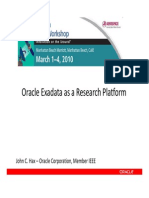 Presentation - Oracle Exadata as a Research Platform