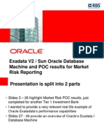 Exadata V2 - POC Results for Market Risk Reporting