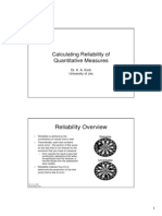 Calculating Reliability