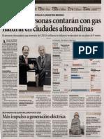 CIUDADES ALTOANDINAS CONTARÁN CON GN