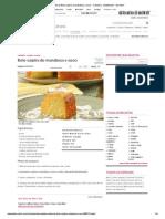 Receita de Bolo caipira de mandioca e coco - Culinária - MdeMulher - Ed