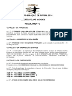 II TORNEIO CORPO EM AÇÃO  DE FUTSAL 2014 - TABELA O FICIAL E REGULAMENTO