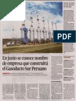 Nombre de empresa que construirá el Gasoducto Sur Peruano- El Peruano 14-2-14