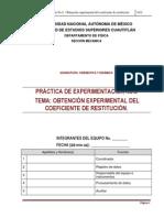 PRACTICA 8 -COEFICIENTE DE RESTITUCIÓN-