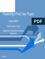 Presenting a Final Year Project CIVIL ENG