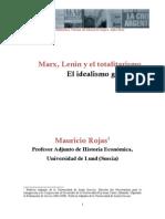 Mauricio Rojas - Articulo Marx, Lenin y El Totalitarismo