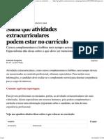 G1 - Saiba que atividades extracurriculares podem estar no currículo - notícias em Concursos e Emprego.pdf