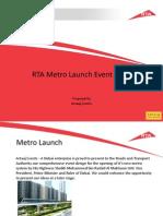 Dubai Metro Launch
