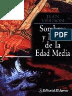 Jean Verdon Sombras y Luces de La Edad Media