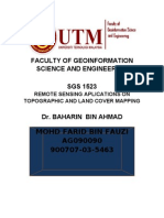 APPLICATION OF REMOTE SENSING IN TOPOGRAPHIC AND LAND COVER MAPPING