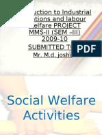 Industrial Relations - Social Welfare in JSW