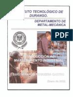 Introduccion Al Mantenimiento Industrial