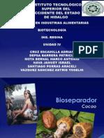 Bioseparador, Cacao