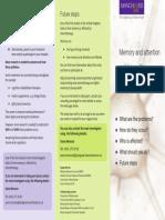 Chemotherapy Memory Study Information Leaflet