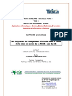 KABORE Master AIGEME Rapport de Stage 2008-2009