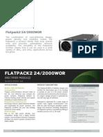Datasheet Flatpack2 24-2000 WOR
