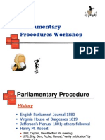 parliamentary procedures short version