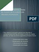 Ecuacion General de Flujo de Fluidos en Medios Porosos