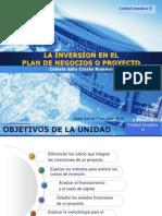 La inversión en el plan de negocios o proyecto