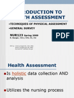 WEB Intro to Health Assessment- Techniques-General Survey