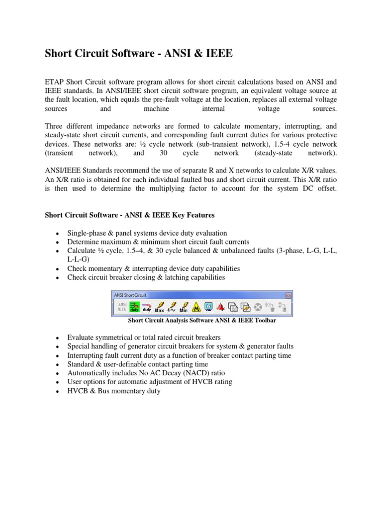 ETAP-Short Circuit Software | Electrical Network (52 views)