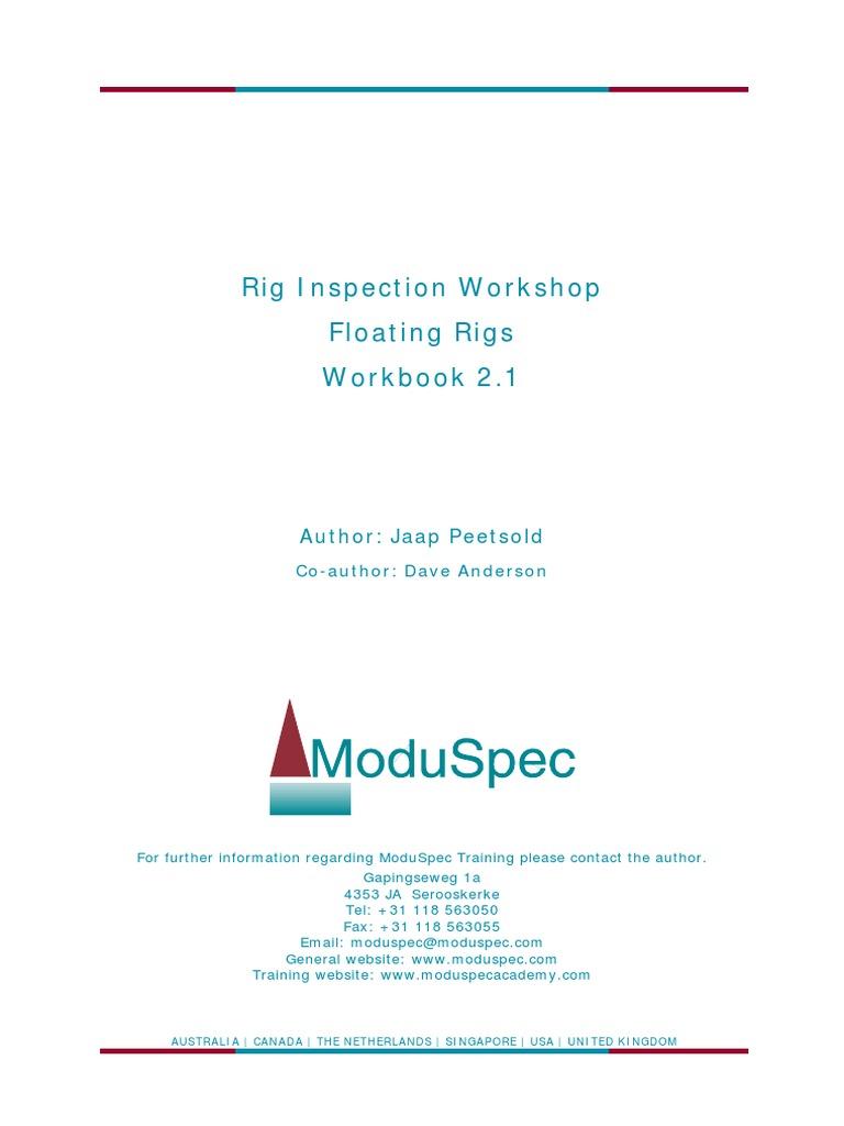 moduspec rig inspection