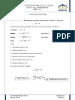 CÁLCULO DE FLUJO UNIFORME-Fórmulas