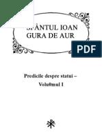 Sf Ioan Gura de Aur - Predicile Despre Statui I